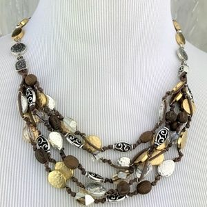 Brighton Layered Multi textured beads Necklace